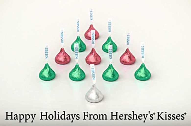 hershey's kisses christmas comercial