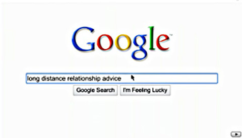 Google homepage search
