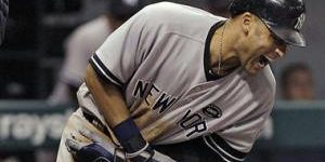 Derek Jeter hit by inning pitch