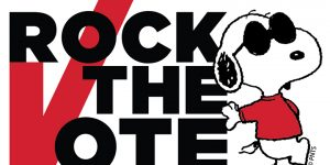 Rock the Vote Snoopy campaign