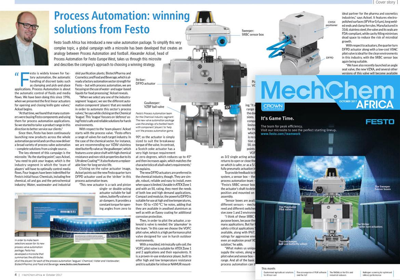 Festo magazine article Process Automation