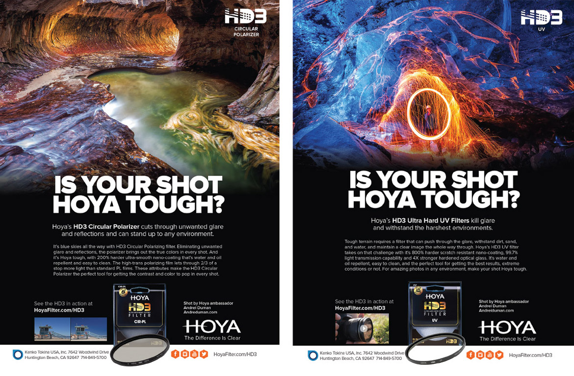 Hoya HD3 print ads camera filter