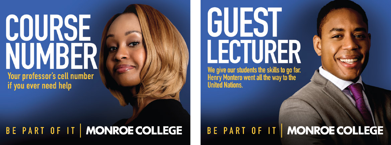 Monroe College print ads