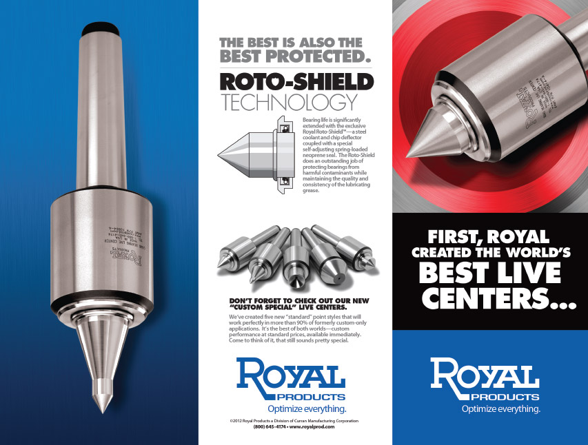 Royal Products trifold brochure mockup