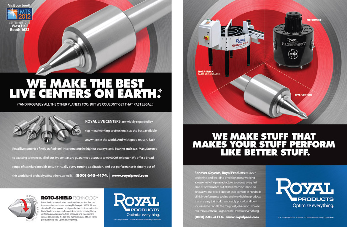 Royal Products product print ads