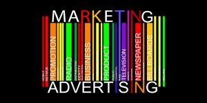 Marketing and Advertising: Mobile, network, promotion, product, radio, distribution, identity, success, business, prive, public, commercial, place, television, website, trademark, newspaper, social network, billboards, selling