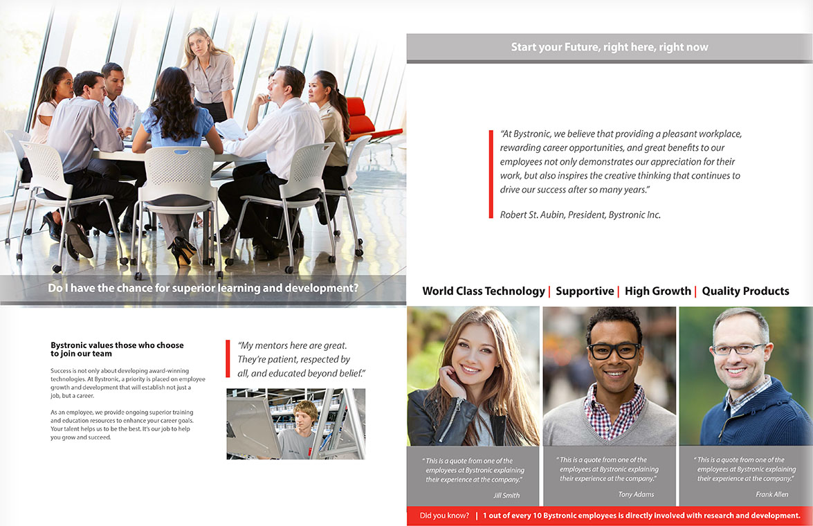 Bystronic Corporate brochure professional development recruiting