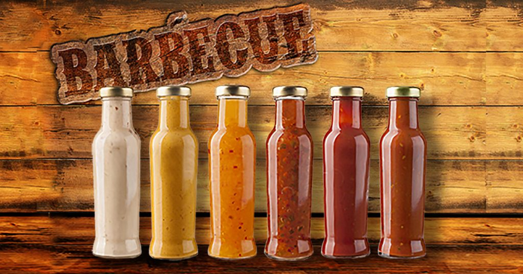 6 bottles of barbeque sauce