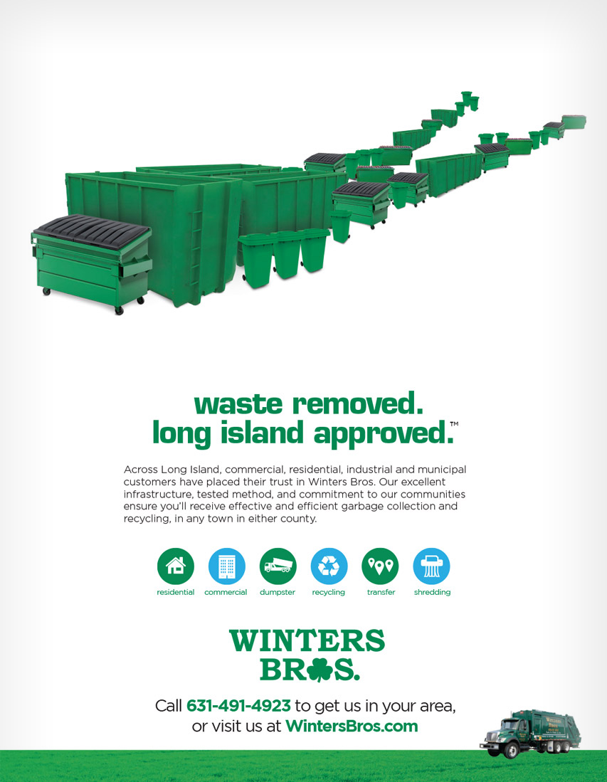 Winters Bros flyer ad Waste Removed Long Island approved